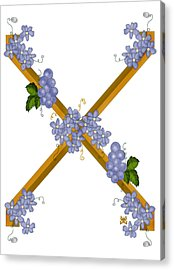 X Is For Ten Acrylic Print by Anne Norskog