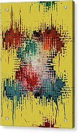 X Marks The Spot Acrylic Print by Bonnie Bruno
