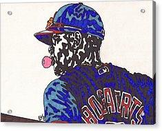 Xander Bogaerts 1  Acrylic Print by Jeremiah Colley