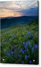 Yakima River Canyon Sunset Acrylic Print by Mike  Dawson