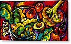 Yammy Salad Acrylic Print by Leon Zernitsky