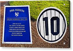 Yankee Legends Number 10 Acrylic Print by David Lee Thompson