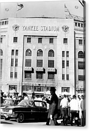 Yankee Stadium, Fans Arrive To Watch Acrylic Print by Everett