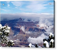 Yavapai Point Winter Acrylic Print by Carrie Putz