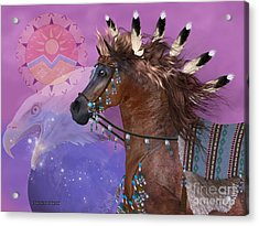 Year Of The Eagle Horse Acrylic Print by Corey Ford