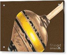 Yellow And Black Top Acrylic Print by Glenda Zuckerman