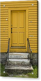 Yellow Shaker Door Acrylic Print by Stephen Stookey