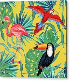 Yellow Tropic  Acrylic Print by Mark Ashkenazi