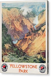 Yellowstone Park Acrylic Print by Thomas Moran