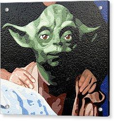 Yoda Acrylic Print by Roberto Valdes Sanchez