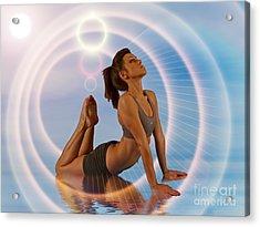 Yoga Girl 1209206 Acrylic Print by Rolf Bertram