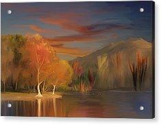 Yorba Linda Lake By Anaheim Hills Acrylic Print by Angela A Stanton