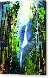 Yosemite Falls Acrylic Print by Elise Palmigiani