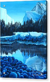 Yosemite In Blue Acrylic Print by Madelaine Kobe