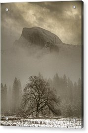 Yosemite In The Winter Acrylic Print by Connie Cooper-Edwards