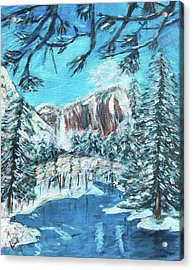 Yosemite In Winter Acrylic Print by Carolyn Donnell
