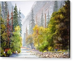 Yosemite Mist Acrylic Print by Shirley Braithwaite Hunt