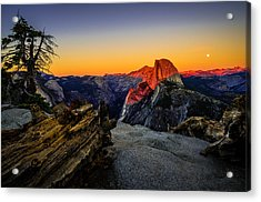 Yosemite National Park Glacier Point Half Dome Sunset Acrylic Print by Scott McGuire
