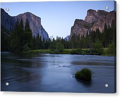 Yosemite Twilight Acrylic Print by Mike  Dawson