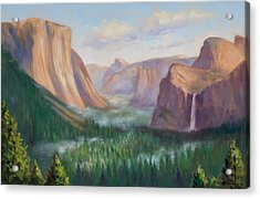 Yosemite Valley Acrylic Print by Karin  Leonard