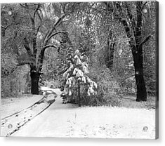Yosemite Valley Winter Trail Acrylic Print by Underwood Archives