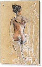 Young Ballerina Acrylic Print by Susan Adams