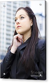 Young Business Woman With Grand Business Ideas Acrylic Print by Jorgo Photography - Wall Art Gallery