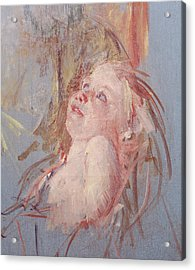 Young Child In Its Mother's Arms Acrylic Print by Mary Stevenson Cassatt