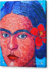 Young Frida Kahlo Acrylic Print by Ana Maria Edulescu