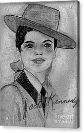 Young Jackie Kennedy Acrylic Print by Sonya Chalmers