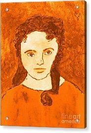 Young Liz Taylor 3 Acrylic Print by Richard W Linford