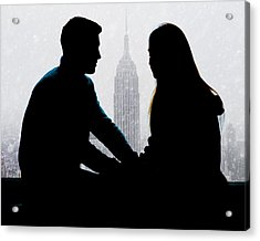 Young Love     Acrylic Print by Chris Lord