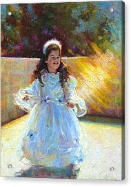 Young Queen Esther Acrylic Print by Talya Johnson