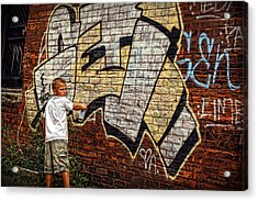 Young Vandal Too Acrylic Print by Gordon Dean II