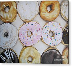 Yummy Donuts Acrylic Print by Jindra Noewi