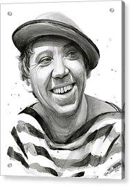 Yuriy Nikulin Portrait Acrylic Print by Olga Shvartsur
