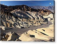 Zabriskie Point In Death Valley Acrylic Print by Pierre Leclerc Photography
