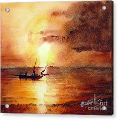 Zanzibar Sunrise Acrylic Print by Mohamed Hirji