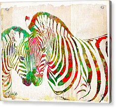 Zebra Lovin Acrylic Print by Nikki Smith