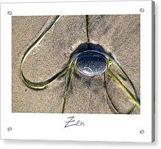 Zen Acrylic Print by Peter Tellone