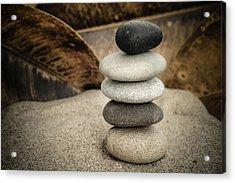Zen Stones IIi Acrylic Print by Marco Oliveira