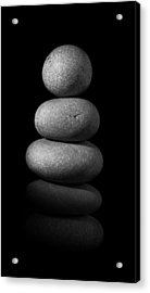 Zen Stones In The Dark II Acrylic Print by Marco Oliveira