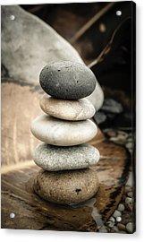 Zen Stones Iv Acrylic Print by Marco Oliveira