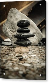 Zen Stones V Acrylic Print by Marco Oliveira