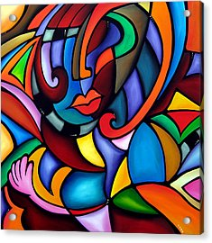 Zeus - Abstract Pop Art By Fidostudio Acrylic Print by Tom Fedro - Fidostudio