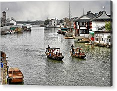 Zhujiajiao - A Glimpse Of Ancient Yangtze Delta Life Acrylic Print by Christine Till