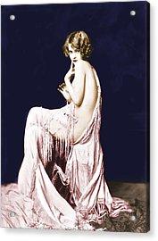 Ziegfeld Girl Anna Buckley Circa 1925 Acrylic Print by Rosie Mills
