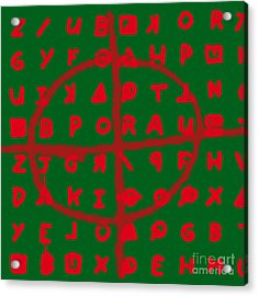 Zodiac Killer Code And Sign 20130213 Acrylic Print by Wingsdomain Art and Photography