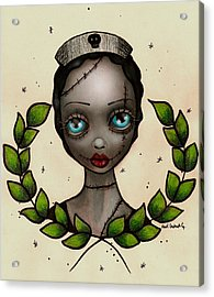Zombie Nurse Acrylic Print by  Abril Andrade Griffith