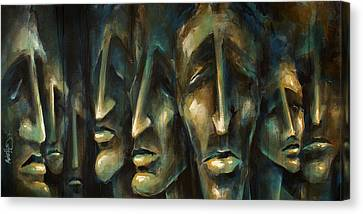 ' Jury Of Eight ' Canvas Print by Michael Lang